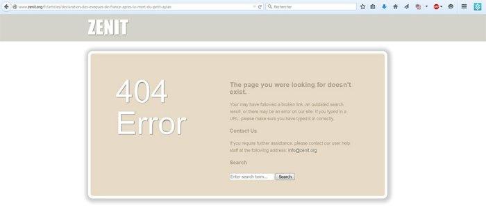 ZENIT - 404 Error