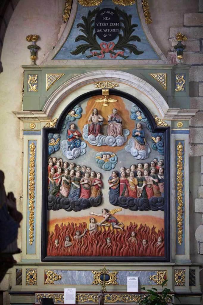 Retable du Purgatoire de l'église de Laz (Finistère) – <abbr data-recalc-dims=