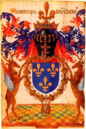 Écu de France aux trois fleurs de lys adopté à partir du règne de Charles V
