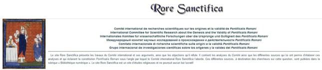 Le Comité International de Recherches Scientifiques sur les origines et la validité de Pontificalis Romani (CIRS)