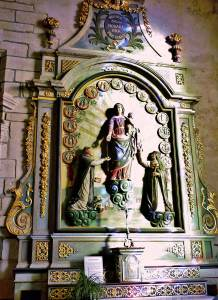 Le retable du Rosaire, Laz