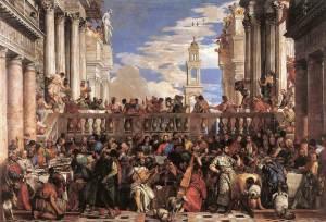 Les noces de Cana par Véronèse, vers 1563 - Musée du Louvre
