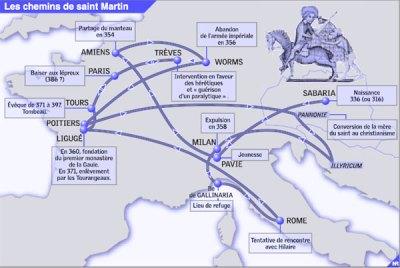 Les chemins de Saint Martin