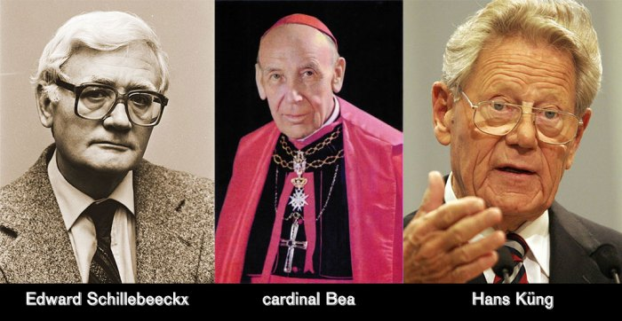 Edward Schillebeeckx, le cardinal Bea et Hans Küng