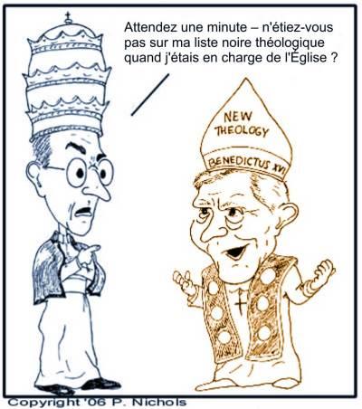 Le pape Pie xii réprimande l'abbé apostat Ratzinger pour suspicion d'hérésie