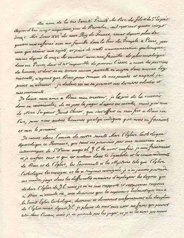 Testamento de Luis XVI