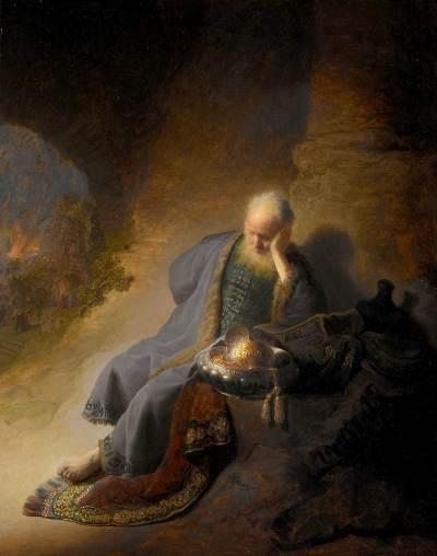 Jérémie se lamentant sur la destruction de Jérusalem