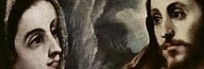 Le Greco : le Christ faisant ses adieux à sa Mère : détail, les regards