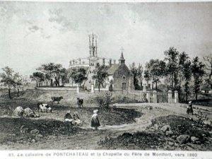 Calvaire et chapelle construits par Saint Louis-Marie Grignion de Montfort vers 1860