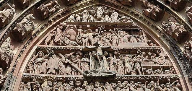 Frontispice de la Cathédrale de Strasbourg (détail)