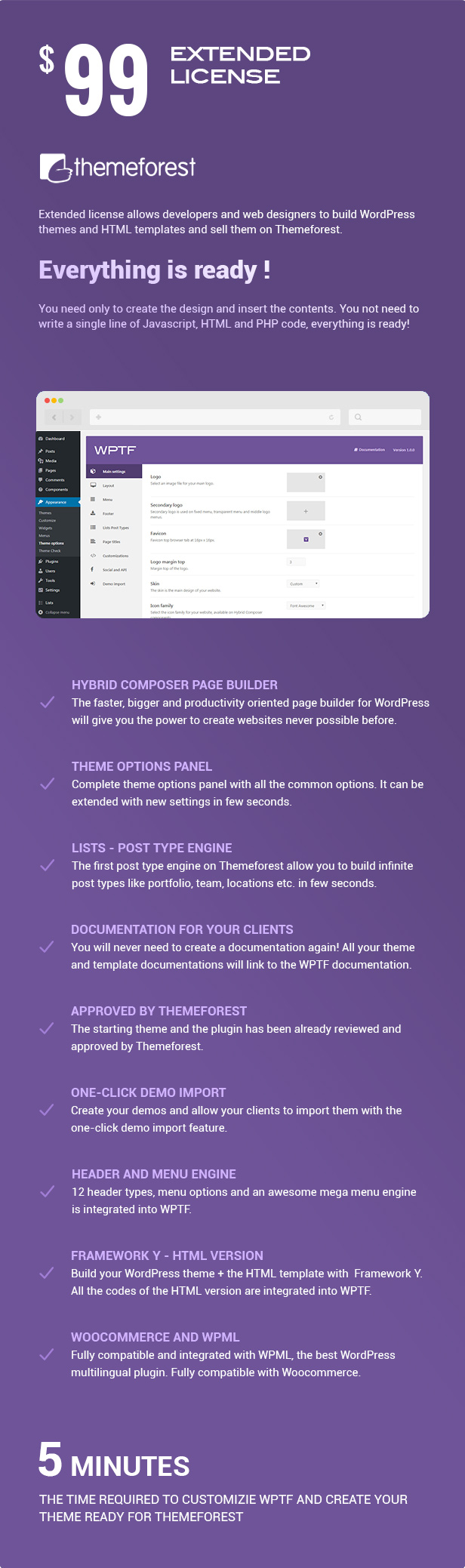 WPTF - WordPress Theme Framework & fullPage Framework 1