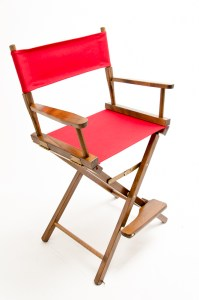 """24"""" Contemporary Series Chair - Walnut with Red Canvas"""