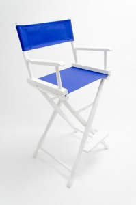 """30"""" Classic Series Chair - White with Royal Blue Canvas"""