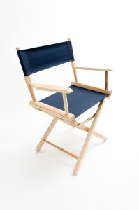 """18"""" Commercial Series Chair - Natural with Navy Canvas"""