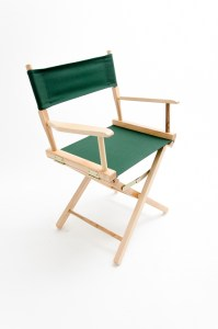"""18"""" Commercial Series Chair - Natural with Hunter Green Canvas"""