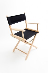 """18"""" Commercial Series Chair - Natural with Black Canvas"""