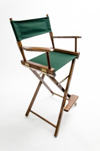 """30"""" Commercial Series Chair - Walnut with Hunter Green Canvas"""