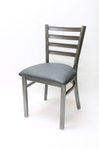 7800 Series - Metal Ladderback with Textured Finish and Carbon Seat
