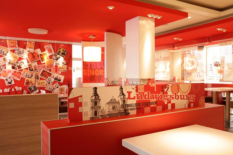 , KFC, Ludwigsburg, Heinkel Modulbau