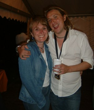 ...with Thomas backstage, August, 23rd 2005, Konstanz, Bodenseestadion