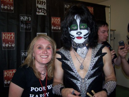Eric Singer - always wonderful to meet, because he is friendly, interested and still very much down to earth.