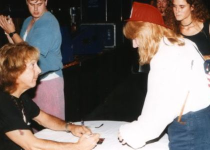 ...with Peter Criss (dr), August, 21st 1994, KISS Convention, Augsburg