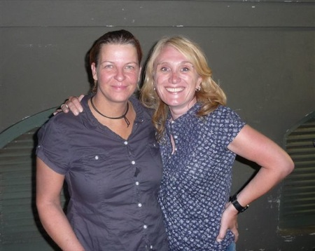 ...with Berit after the amazing Heather Nova gig in Darmstadt, Centralstation 08/19/2009. We talked and laughed a lot - she has got a great sense of humor;-)