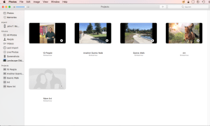 Apple Photos Projects with Thumbnails