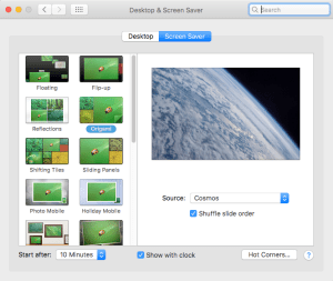 Desktop and Screen Saver in Mac System Preferences can Interrupt Some Slideshows