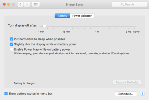 Energy Saver Battery Turn Display Off Timeout can Interrupt Some Slideshows on Mac