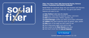 Social Fixer Web Site