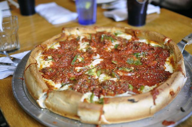 Deep Dish Pizza, photo by Liz Effler