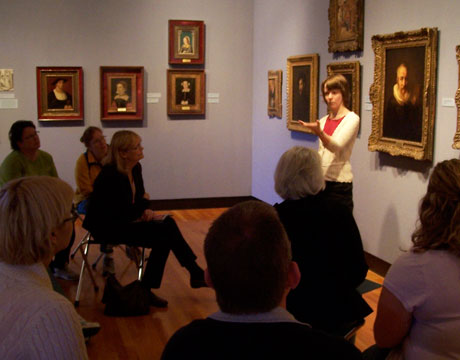The Rembrandt, behind the director of education, Anne Sautman