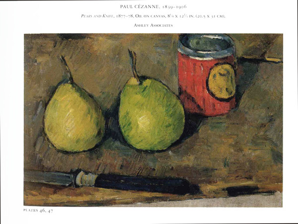 On Art and Inspiration. Pears and Knife by Paul Cezanne