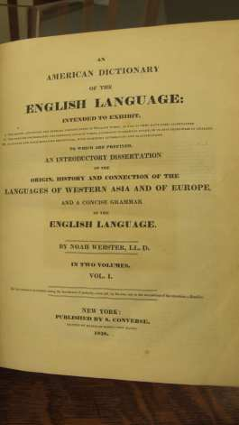 Title page of An American Dictionary of the English Language