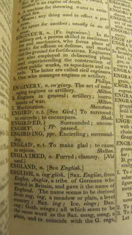 Sample section of  An American Dictionary of the English Language