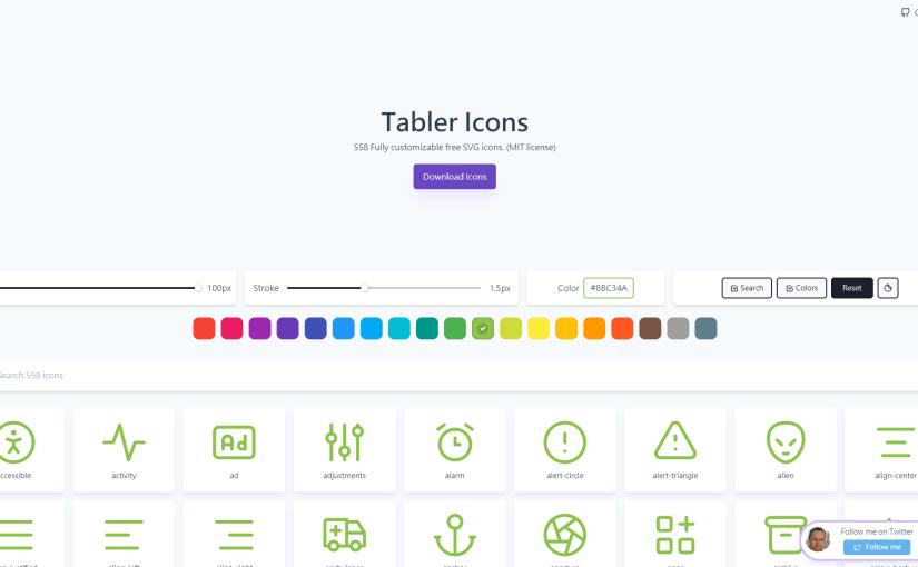 好用的SVG Icon產生器 – Tabler Icons