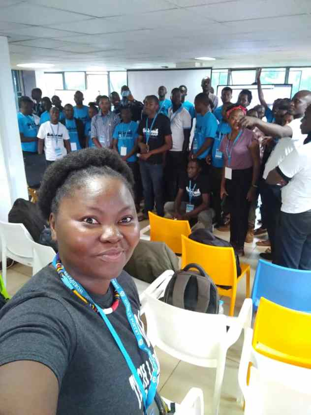 Mary Job at WordCamp Kampala 2020