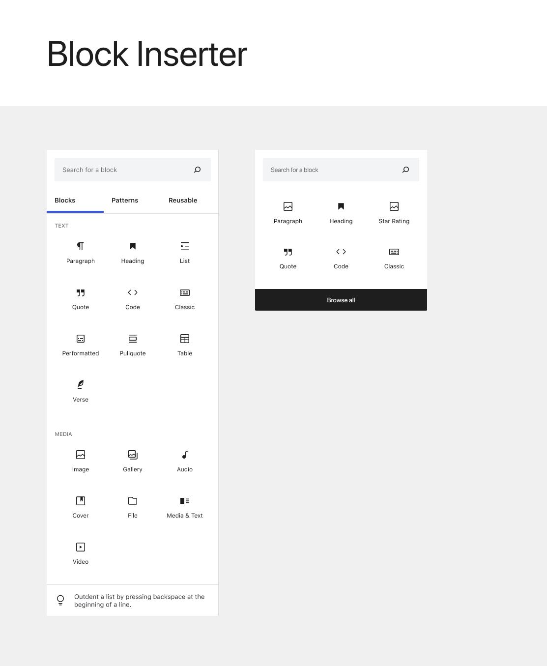 blocks wordpress