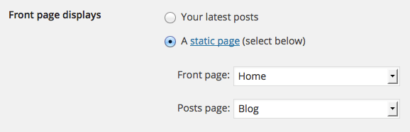 static_front_page_setting