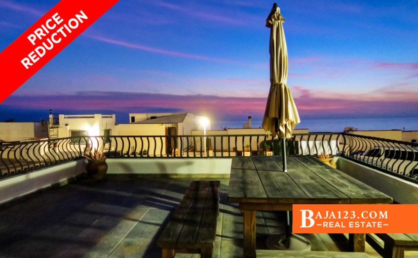 PRICE REDUCTION – Ocean View Home For Sale in Plaza Del Mar, Rosarito Beach – USD $227,000