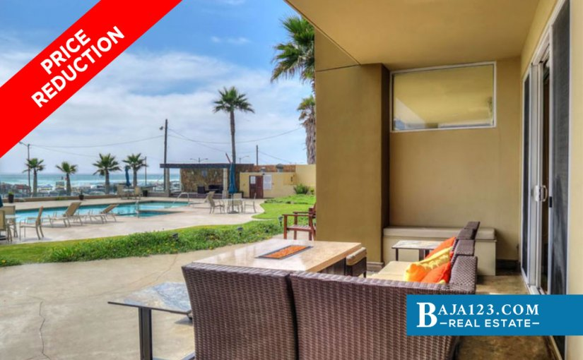 PRICE REDUCTION – Oceanfront Condo For Sale in Riviera de Rosarito, Playas de Rosarito