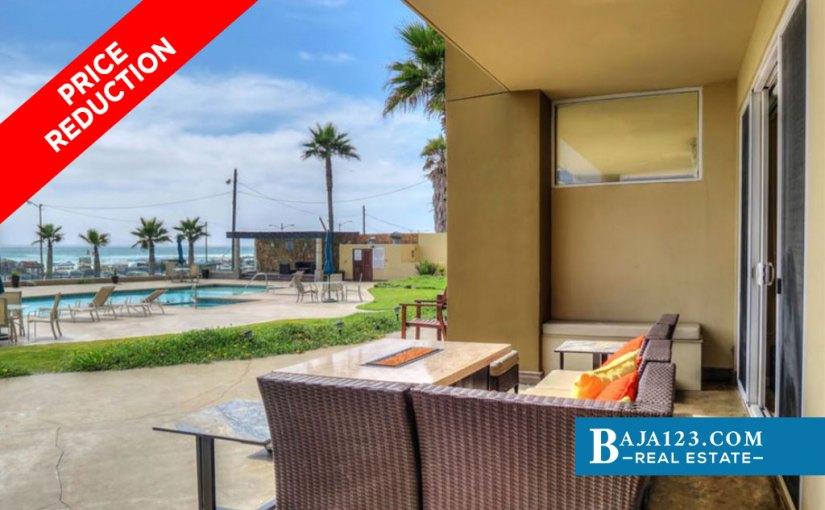 PRICE REDUCTION – Oceanfront Condo For Sale in Riviera de Rosarito, Playas de Rosarito