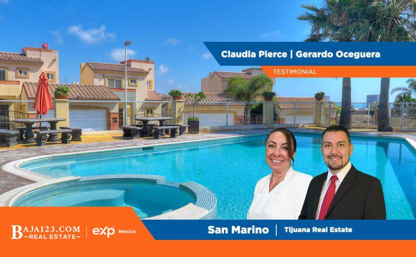 Great Testimonial to Claudia Pierce and Gerardo Oceguera – San Marino, Tijuana