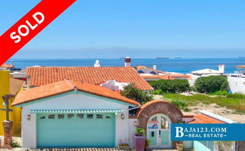 SOLD – Ocean View Home For Sale in Castillos del Mar, Playas de Rosarito – $259,900 USD