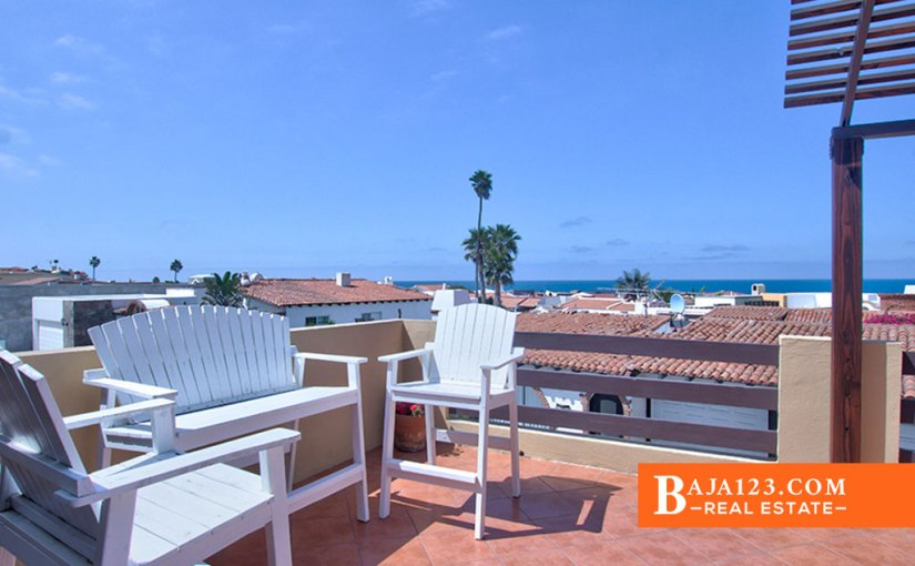Ocean View Home For Sale in Castillos del Mar, Playas de Rosarito - USD $289,000