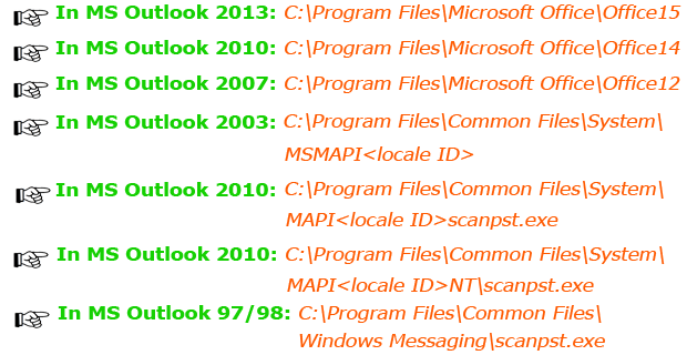 Repair PST File by using Inbox Repair Tool (scanpst.exe)