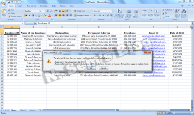 convert excel to csv (step-3)