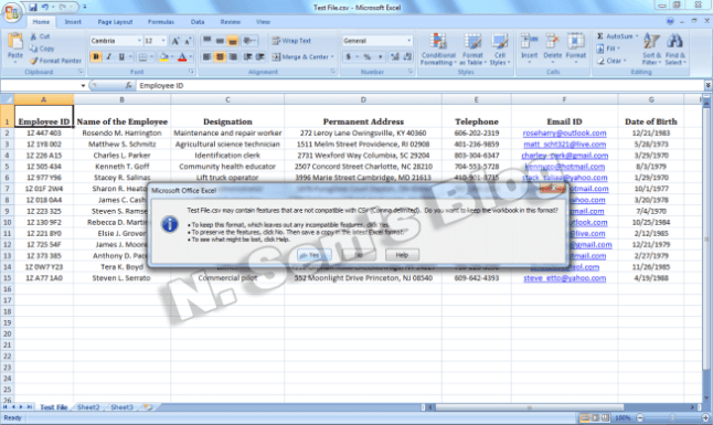 convert Excel to CSV (step-4)