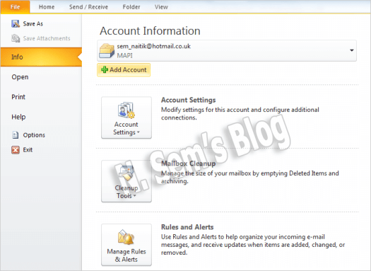 add Hotmail to Outlook (step-2)